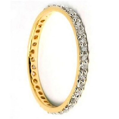 1/4 Carat (38 Pcs) Diamond 10Kt Solid Gold Eternity Ring