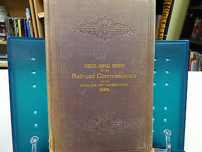 8th Annual Report of the Railroad Commissioners MISSOURI (1882)