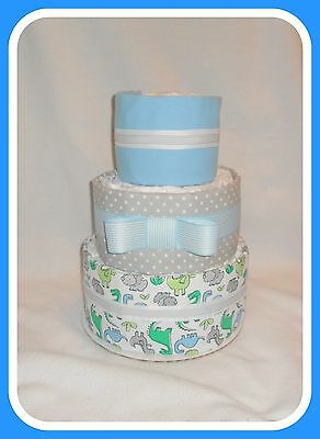 Incredible Baby Boy Dinosaur Themed Diaper Cake-Gorgeous Centerpiece!!!