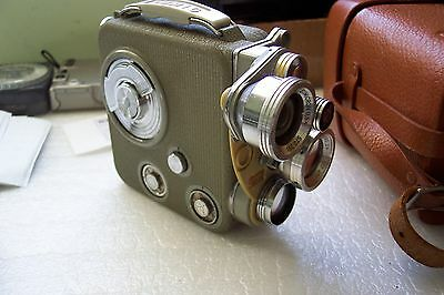 #   EUMIG   8mm  movie  camera with leather case