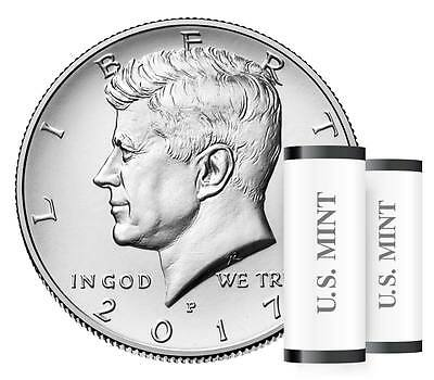 2017-P & D John F Kennedy Half Dollar 2 Coin Set ***in Hand***from Us Mint Roll