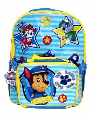 Nickelodeon Paw Patrol Boys' We Save The Day 15 Inch Backpack with Lunch Kit