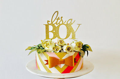 its a boy Cake Topper baby shower gender reveal boy or girl