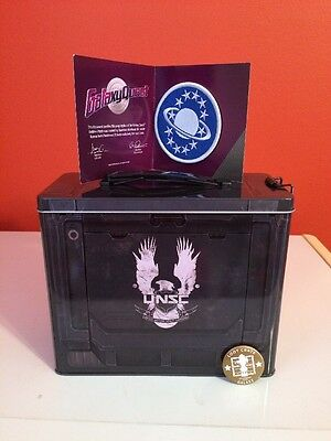 Loot Crate December 2015 Halo Ammo Tin Galaxy Quest Replica Patch Pin
