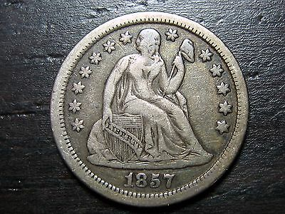 1857 Seated Liberty Dime  -  MAKE US AN OFFER!  #O8920