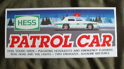 FREE SHIPPING 1993 HESS PATROL CAR DUAL SIREN/PULSATING Head Lights NEW IN BOX