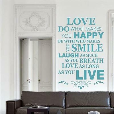 Live Love Laugh Family Smile Happy Wall Art Sticker quote decal vinyl stickers