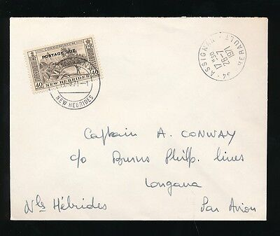 NEW HEBRIDES POSTAGE DUE 40c CHARGE from FRANCE 1971 AIRMAIL