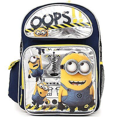 """Despicable Me Minions Large School Backpack 16"""" Book Bag - Oops!"""