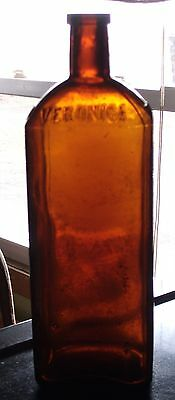 Amber Bitters Shaped 1890's Spring Water Bottle