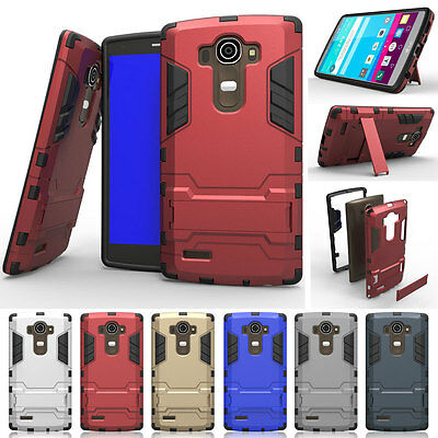 Shockproof Hybrid Rugged PC Armor Kickstand Protective Thin Case Cover For LG G5