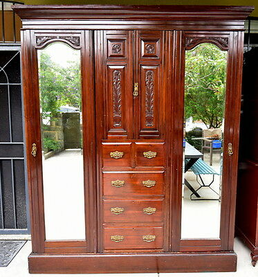 Antique Large  Wardrobe with Drawers Great storage Solid