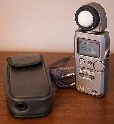 SEKONIC L-358 Flash Master LIGHT METER with Soft Case, for Camera Photography