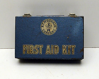 Vintage First Aid Kit BF Mc Donald Company - Full of stuff!