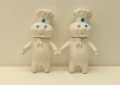 Vintage  Pair of 1971 PILLSBURY DOUGHBOY Rubber not Ceramic