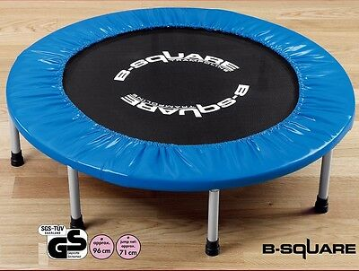 38in Mini Trampoline England B-Square 1/4 Fold 8 Legs Jogger Rebounder Home Gym