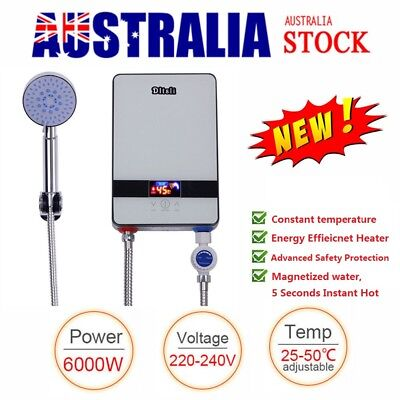 New Tankless Electric Water Heater Instant Shower Set Hot Water System