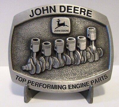 John Deere Top Performing Engine Part Crankshaft Asy Belt Buckle 1993 Ltd Ed 254