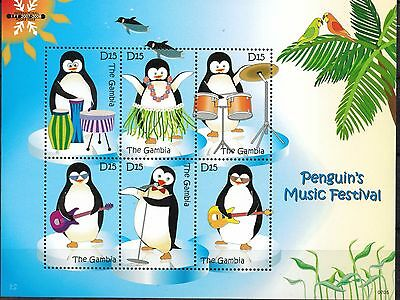 Gambia Scott 3061-3062 Penguins Mint Never Hinged