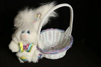 Giggle Bunny 1993 Easter Basket Plush Toy Doll Vintage TCFC Characters Cleveland