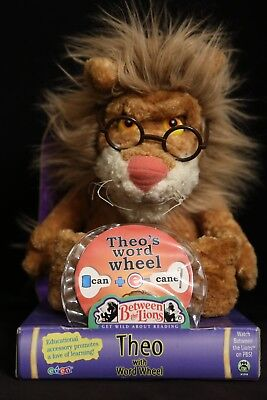 Between the Lions THEO with Word Wheel Eden Plush Toy Doll NEW