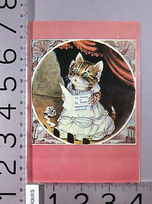 Collectible Birthday Card Cat Used 1920's