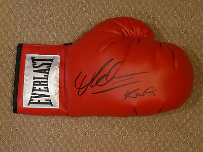"Amir ""King"" Khan Autographed Everlast Boxing Glove  COA"