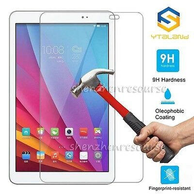 9H+ Tempered Glass Film Screen Protector Saver Shield For Huawei MediaPad Tablet