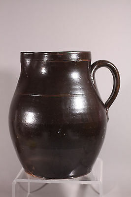 """Antique Hand Turned Red ware Water pitcher 10"""""""
