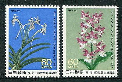 12th WORLD ORCHID CONFERENCE 1987 - MUH SET OF TWO (G118-RR)