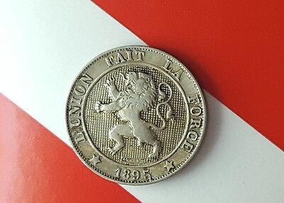 1895 BELGIUM 5 Centimes Foreign Coin VF *