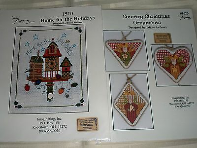 "Imaginating*inc  ""home For The Holidays"" Cross Stitch Chart *diane Arthurs)"