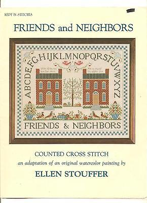 "Kept*in*stitches ""friends*and*neighbors""  Counted Cross~Stitch Chart"
