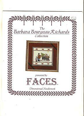 "Faces Babara*bourgeau~Richards Collection ""christmas*sleigh"" Cross~Stitch Chart"