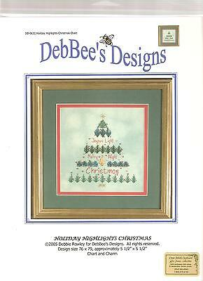 "Debbee's*designs ""holiday*highlights*christmas"" Cross~Stitch Chart With Charm"