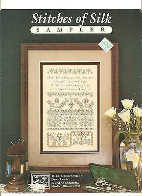 "The*needle's*work ""stitches*of*silk*sampler"" 1955 Counted Cross~Stitch Chart"