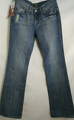 NWT 7 For All Mankind Womens Size 29 Distressed Flare Bootcut Jeans