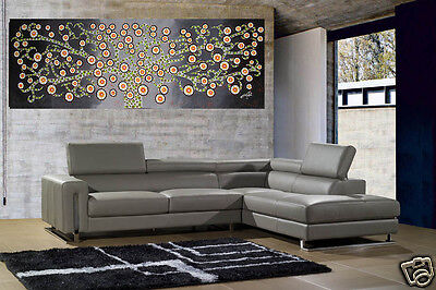 Large Art Painting Aboriginal Charcoal Kurrajong Tree Flower by Jane Crawford