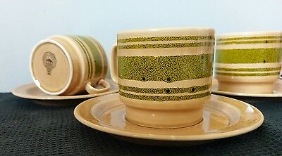 pagnossin treviso italy set of 3 coffee cups and suacers