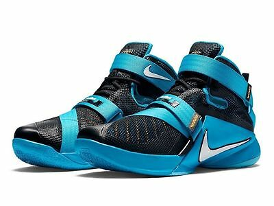 d542cf2a49400 NEW Nike 776471-014 LeBron Soldier IX Blue Basketball Shoes Kid Youth Black  BLUE