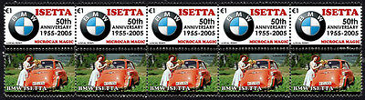 Bmw 50Th Anniversary Strip Of 10 Stamps, Bmw Isetta