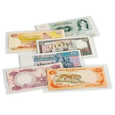Banknote Protector. Lighthouse Premium Banknote Sleeves. 160mm x 75mm