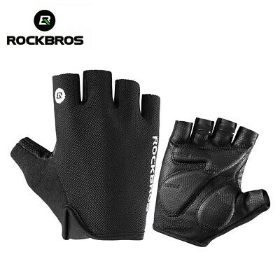 ROCKBROS Cycling Gloves Half Finger Bike Gloves Shockproof Breathable Gloves
