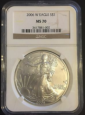 2006-W Silver Eagle NGC MS70 Graded