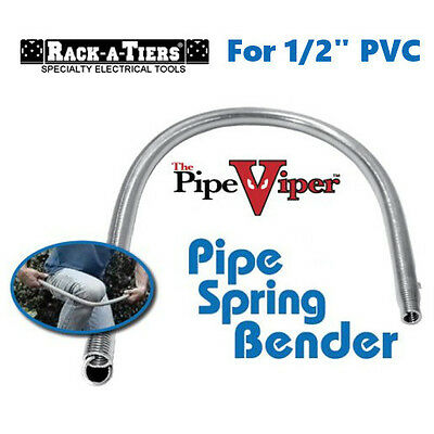 "Rack-A-Tiers The Pipe Viper 1/2"" Cold Bend Rigid PVC Pipe Spring Bender 58050"