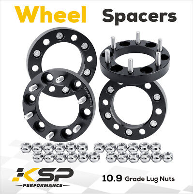 4X Wheel Spacer Adapters 1'' Thick 6X5.5 12x1.5 Fit Toyota Tacoma 4Runner 6 Lug