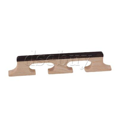 Maple & Ebony Bridge For 4 String Banjo Ukulele