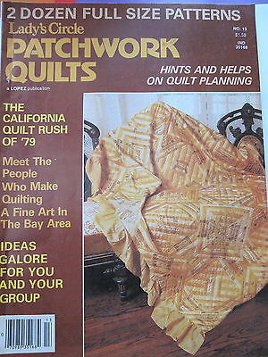PATCHWORK QUILTS  by Lady's Circle..Vintage Magazine ..1979 No 13