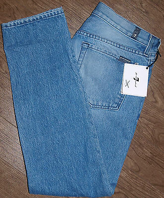 7 For All Mankind Size 28x28 Womens NWOT The Relaxed Skinny Low Rise Blue Jeans