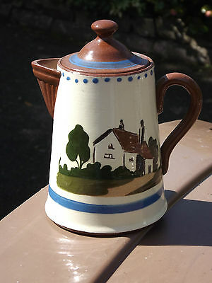 Vintage Watcombe Torquay Cottage  mottoware water jug Its better to Wear out....